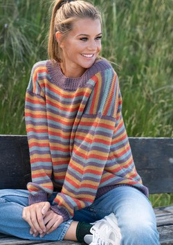 Gestreifter Pullover in vier Farben aus Mayflower Easy Care Classic